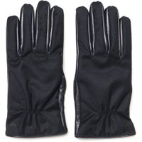Emporio Armani Leather Blue Gloves
