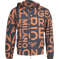 Emporio Armani All Over Black & Orange Print Jacket