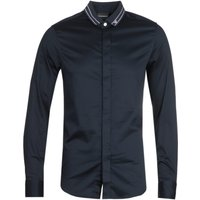 Emporio Armani Camicia Tipped Collar Dark Shirt