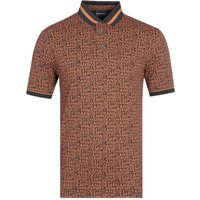 Emporio Armani All Over Orange Polo Shirt