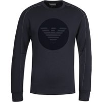 Emporio Armani Circle Eagle Logo Navy Sweatshirt