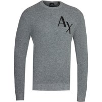Armani Exchange AX Logo Grey Knitted Sweatshirt