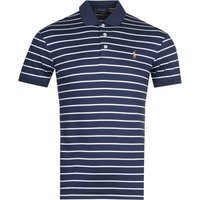 Polo Ralph Lauren Stripe Navy Pima Polo Shirt