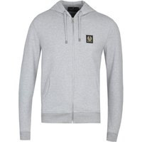 Belstaff Full Zip-Through Heather Grey Hoodie