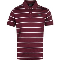 Paul & Shark Thin Stripe Burgundy Polo Shirt