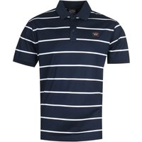 Paul & Shark Thin Stripe Navy Polo Shirt