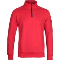 Paul & Shark Red Quarter Zip Sweatshirt