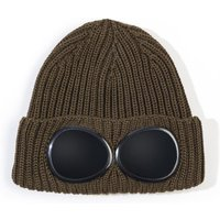CP-Company-Green-Knitted-Goggle-Beanie