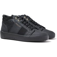 Andriod Homme Propulsion Mid Geo Rubber Textured Black Trainers