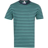 Albam Classic Stripe Short Sleeve Fern Green T-Shirt
