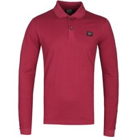 Paul & Shark Burgundy Long Sleeve Polo Shirt