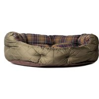 Barbour Quilted Olive Green 30IN Dog Bed