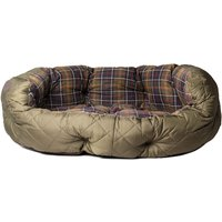 Barbour Quilted Olive Green 35IN Dog Bed