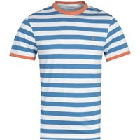 Farah Belgrove Stripe Blue & White T-Shirt