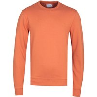 Farah Tim Orange Crew Neck Sweatshirt