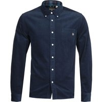 Pretty Green Classic Fit Navy Corduroy Shirt