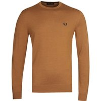Fred Perry Classic Crew Neck Caramel Sweater
