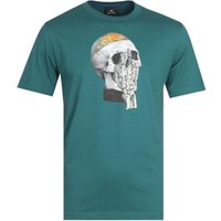 PS-Paul-Smith-Globe-Skull-Teal-TShirt
