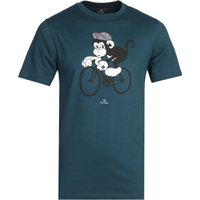 PS Paul Smith Bike Monkey Blue T-Shirt