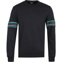 PS-Paul-Smith-Contrast-Sleeve-Stripe-Black-Sweatshirt