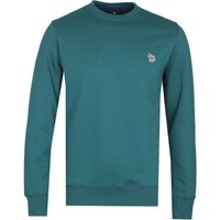 PS Paul SMith Regular Fit Zebra Logo Steel Blue Crew Neck Sweatshirt