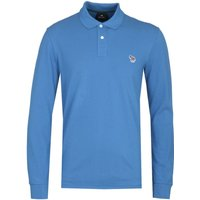 PS Paul Smith Regular Fit Long Sleeved Blue Polo Shirt