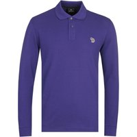 PS Paul Smith Regular Fit Long Sleeved Purple Polo Shirt