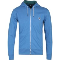 PS Paul Smith Regular Fit Sky Blue Zip-Through Hoodie