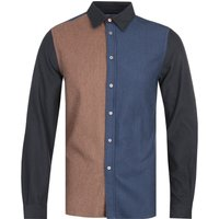PS-Paul-Smith-Brown-and-Blue-Tailored-Fit-Long-Sleeve-Shirt