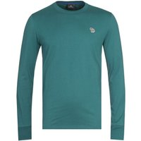 PS-Paul-Smith-Long-Sleeve-Zebra-Logo-Teal-TShirt