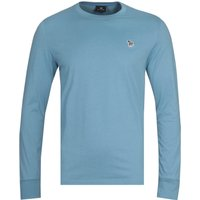 PS Paul Smith Long Sleeve Zebra Logo Blue T-Shirt