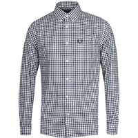 Fred Perry Gingham Long Sleeve Navy Shirt