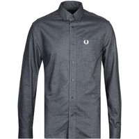 Fred Perry Brushed Black Oxford Shirt