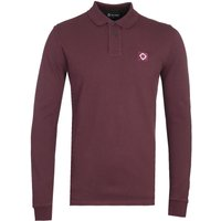 MA.Strum Long Sleeve Cotton Pique Burgundy Polo Shirt