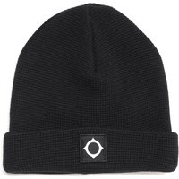 MA.STRUM Black Knit Beanie