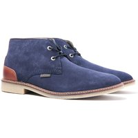Barbour Kalahari Soft Navy Leather Desert Boots