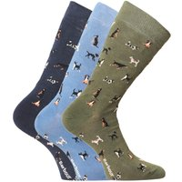 Barbour Dog Motif Socks Gift Box