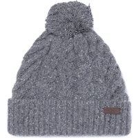 Barbour Seaton Pom Fleck Grey Beanie