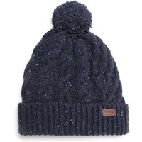 Barbour Seaton Pom Fleck Navy Beanie