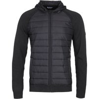 Barbour International Albie Baffle Black Hooded Knit