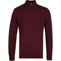 Barbour Tisbury Red Half-Zip Knit Sweater