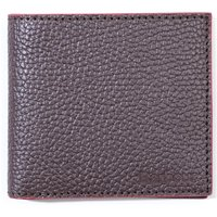 Barbour Grain Leather Billfold Brown Wallet