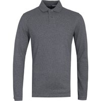 Barbour Tartan Grey Long Sleeve Polo Shirt