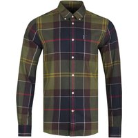 Barbour-Tailored-Fit-Olive-Green-Tartan-Shirt