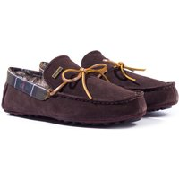 Barbour Tueart Brown Suede Slippers