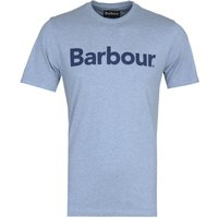 Barbour Large Logo Print Blue Marl T-Shirt