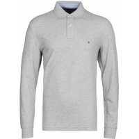Tommy-Hilfiger-Long-Sleeve-Grey-Polo-Shirt