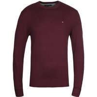 Tommy-Hilfiger-Pima-Cotton-Cashmere-Burgundy-Crew-Neck-Sweater