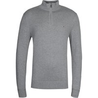 Tommy-Hilfiger-Pima-Cotton-Cashmere-Half-Zip-Grey-Sweatshirt