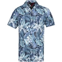 Tommy-Hilfiger-Navy-Hawaiian-Print-Shirt